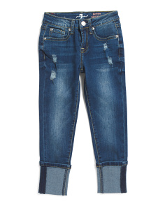 Big Girls Cuffed Ankle Jeans