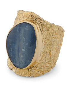 Made In Bali 14k Gold Plate Sterling Silver Kyanite Ring