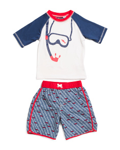 Toddler Boys 2pc Snorkel Rash Set