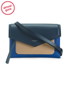 Made In Italy Duetto Flap Leather Crossbody