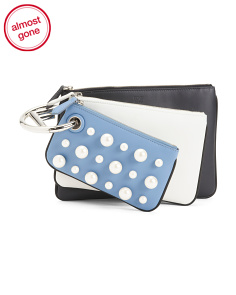 Made In Italy Triplette Leather Clutch