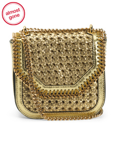 Made In Italy Falabella Woven Shoulder Bag