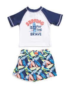 Infant Boys 2pc Surfing Rash Set