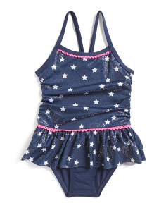 Infant Girls Star Ruffle One-piece Swimsuit ...