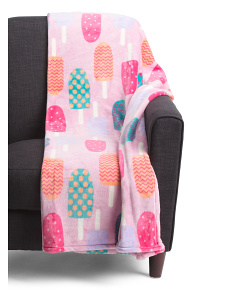Oversized Plush Popsicle Throw
