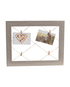 11x15 Criss Cross Rope Wood Photo Display