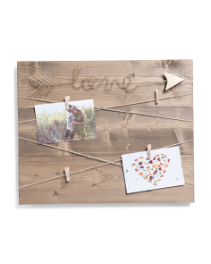 15x17 Love Arrow Wall Photo Display