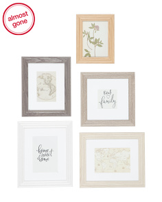 5pc Assorted Gallery Wall Frame Set