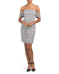 Juniors Joella Jacquard Cocktail Dress