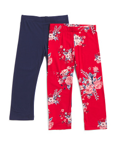 Little Girls Super Comfy 2pk Leggings