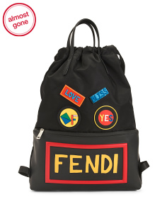 Made In Italy Nylon Travel Backpack
