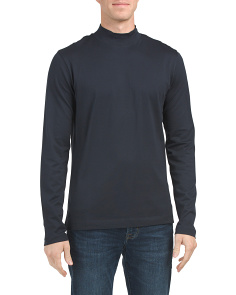 Solid Mock Neck Top