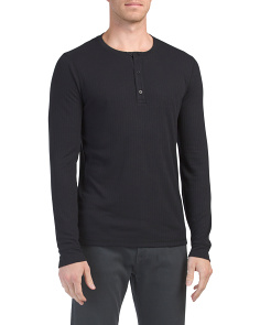 Flat Back Ribbed Henley