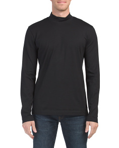 Long Sleeve Solid Mock Neck Top
