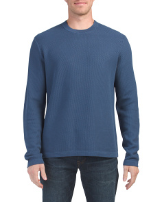 Reverse Tuck Stitch Crew Neck Sweater