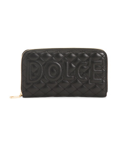 Made In Italy Leather Quilted Wallet