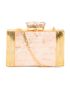 Handmade Mother Of Pearl Shell Clutch