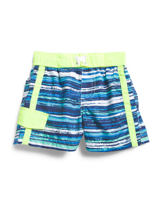 Infant Boys Striped Swim Trunks