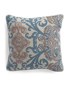 Made In India Linen 18x18 Pillow