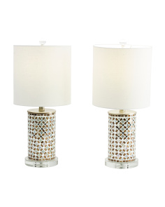 Set Of 2 Mirrored Table Lamps