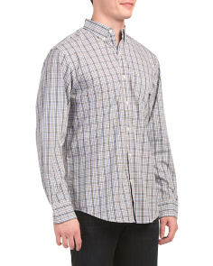 Long Sleeve Premium Peached Poplin Shirt