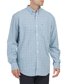 Long Sleeve Plaid Button Down Shirt