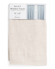 54x84 Set Of 2 Linen Look Curtains