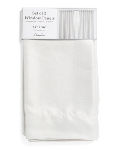 Set Of 2 54x 96 Linen Look Curtains