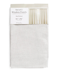 54x96 Set Of 2 Sheer Linen Curtains