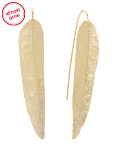 Made In Israel 14k Gold Plated Sterling Silver Linear Earrings