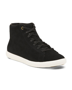 High Top Suede Comfort Sneakers