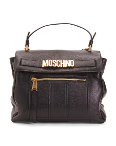 Made In Italy Oversize Leather Satchel
