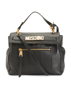 Made In Italy Oversized Leather Satchel