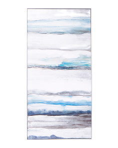 20x40 Embellished Seaview Wall Art