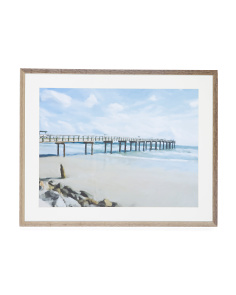 28x22 By The Pier Framed Wall Art