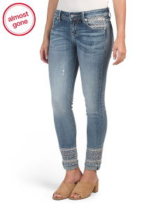 Mid-rise Ankle Skinny Jeans