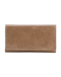 Flap Front Leather Wallet
