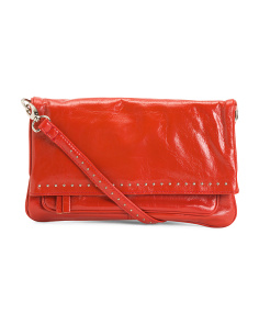 Front Flap Convertible Leather Crossbody