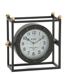 Caged Table Clock