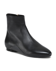 Made In Italy Designer Leather Booties