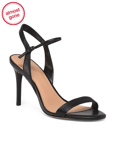Stiletto Heel Leather Sandals