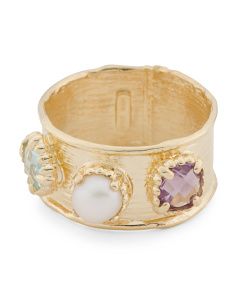 Made In Italy 14k Gold Gemstone Ring