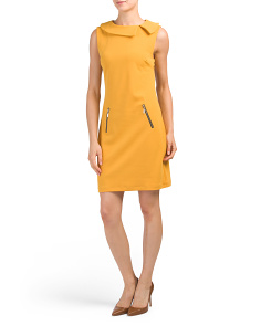 Made In Italy Crepe Envelope Neck Dress
