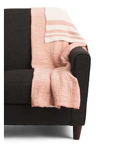 Made In Portugal Washed Stripe Throw