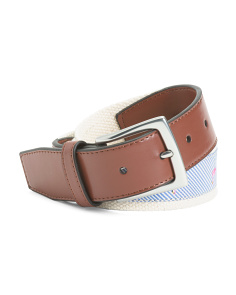 Men's Flamingo Print Novelty Belt