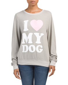 Made In Usa Must Love Dogs Knit Top