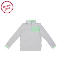 Boys Threadborne Half Zip Top