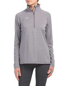 Stripe Tech Quarter Zip Top