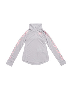 Girls Threadborne Quarter Zip Top