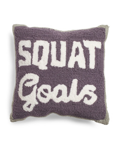 16x16 Squat Goals Pillow